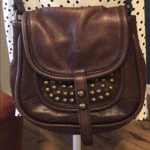 Distressed leather FOSSIL crossbody